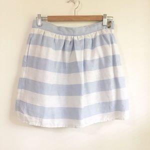 Cynthia Rowley Blue & White Striped Mini Skirt 4